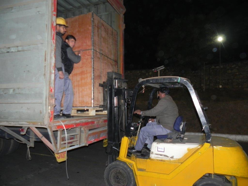 Loading and Offloading Trucks with folk Lift